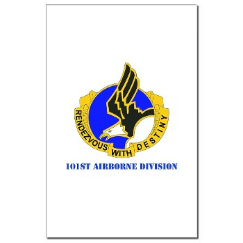 101ABN - M01 - 02 - DUI - 101st Airborne Division with Text Mini Poster Print
