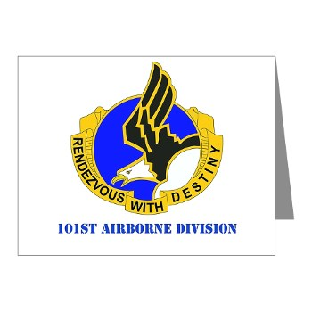 101ABN - M01 - 02 - DUI - 101st Airborne Division with Text Note Cards (Pk of 20)