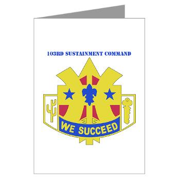 103SC - M01 - 02 - DUI-103rd Sustainment Command - Greeting Cards (Pk of 20)