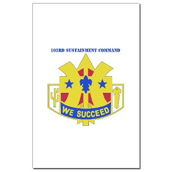 103SC - M01 - 02 - DUI-103rd Sustainment Command - Mini Poster Print