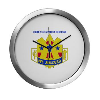 103SC - M01 - 03 - DUI-103rd Sustainment Command - Modern Wall Clock