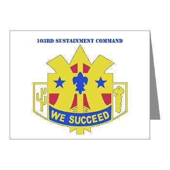 103SC - M01 - 02 - DUI-103rd Sustainment Command - Note Cards (Pk of 20)