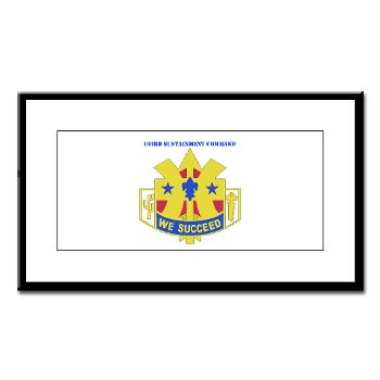 103SC - M01 - 02 - DUI-103rd Sustainment Command - Small Framed Print
