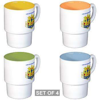 103SC - M01 - 03 - DUI-103rd Sustainment Command - Stackable Mug Set (4 mugs)