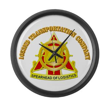 1052TC - M01 - 03 - 1052nd Transportation Company With Text - Large Wall Clock