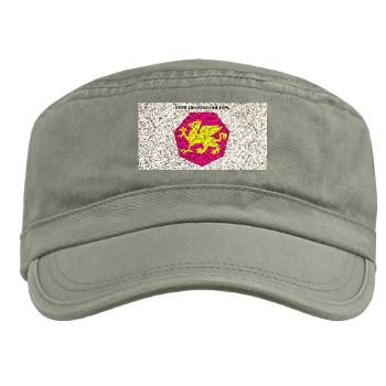 108TC - A01 - 01 - SSI - 108th Training Command with Text - Military Cap