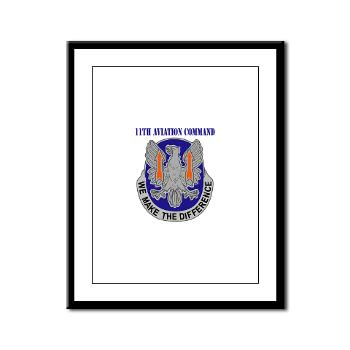 11AC - M01 - 02 - DUI - 11th Aviation Command with text - Framed Panel Print
