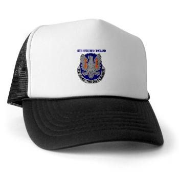11AC - A01 - 02 - DUI - 11th Aviation Command with text - Trucker Hat