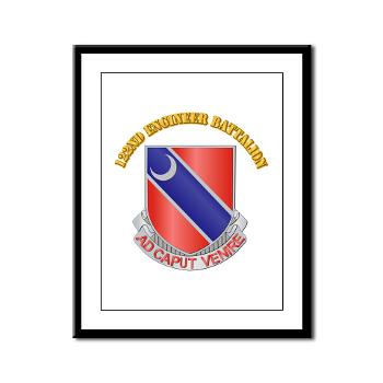 122EB - M01 - 02 - DUI - 122nd Engineer Bn with Text - Framed Panel Print