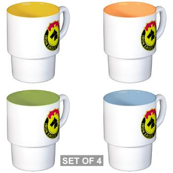 127ASB - M01 - 03 - DUI - 127th Avn Support Bn - Stackable Mug Set (4 mugs)
