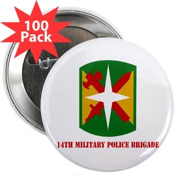 "14MPB - M01 - 01 - SSI - 14th Military Police Bde - 2.25"" Button (100 pack)"