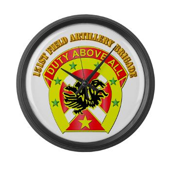151FAB - M01 - 03 - DUI - 151st Field Artillery Bde with Text - Large Wall Clock