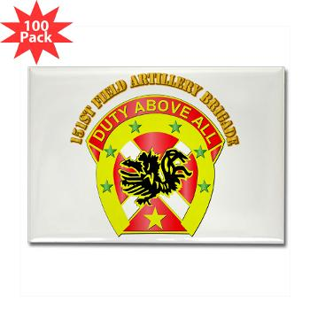 151FAB - M01 - 01 - DUI - 151st Field Artillery Bde with Text - Rectangle Magnet (100 pack)