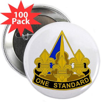 "158IB - M01 - 01 - DUI - 158th Infantry Brigade 2.25"" Button (100 pack)"