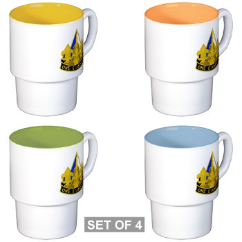 158IB - M01 - 03 - DUI - 158th Infantry Brigade Stackable Mug Set (4 mugs)