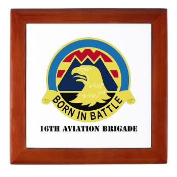 16AB - M01 - 03 - DUI - 16th Aviation Brigade with Text - Keepsake Box