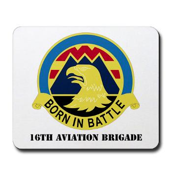 16AB - M01 - 03 - DUI - 16th Aviation Brigade with Text - Mousepad