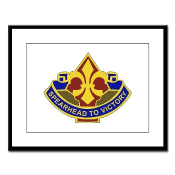 177AB - M01 - 02 - DUI - 177th Armored Brigade Large Framed Print