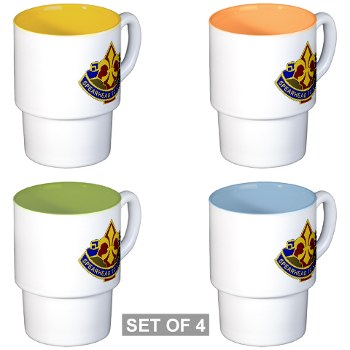 177AB - M01 - 03 - DUI - 177th Armored Brigade Stackable Mug Set (4 mugs)