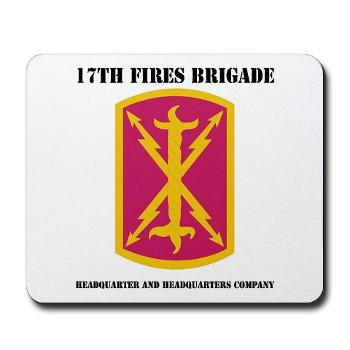 17BHHB - A01 - 03 - DUI - Headquarters and Headquarters Battery With Text - Mousepad