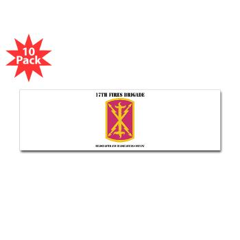 17BHHB - A01 - 01 - DUI - Headquarters and Headquarters Battery With Text - Sticker (Bumper 10 pk)