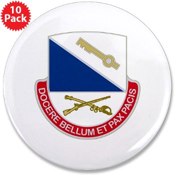 "181IB - M01 - 01 - DUI - 181st Infantry Brigade - 3.5"" Button (10 pack)"