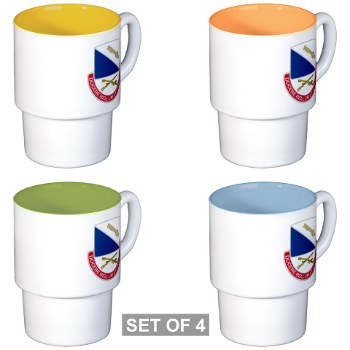 181IB - M01 - 03 - DUI - 181st Infantry Brigade - Stackable Mug Set (4 mugs)