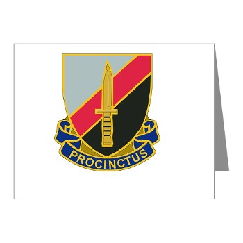 188IB - M01 - 02 - DUI - 188th Infantry Brigade Note Cards (Pk of 20)