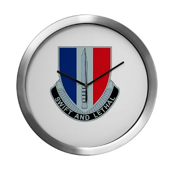 189IB - M01 - 03 - DUI - 189th Infantry Brigade Modern Wall Clock