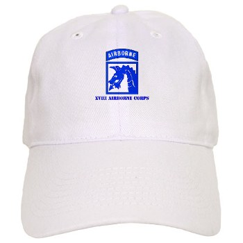 18ABC - A01 - 01 - SSI - XVIII Airborne Corps with Text Cap