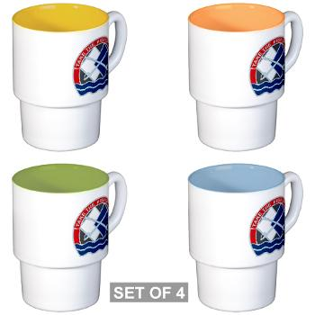 192IB - M01 - 03 - DUI - 192nd Infantry Brigade Stackable Mug Set (4 mugs)