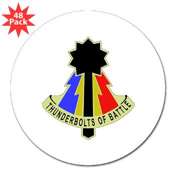 "194AB - M01 - 01 - DUI - 194th Armored Brigade - 3"" Lapel Sticker (48 pk)"