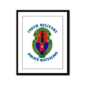 198MPB - M01 - 02 - 198th Military Police Battalion with Text - Framed Panel Print