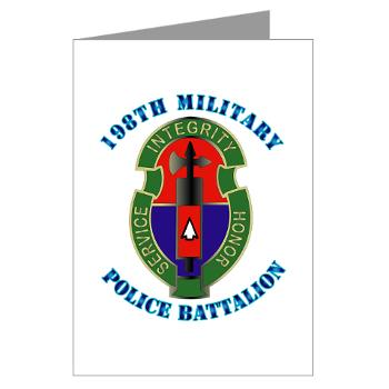 198MPB - M01 - 02 - 198th Military Police Battalion with Text - Greeting Cards (Pk of 20)