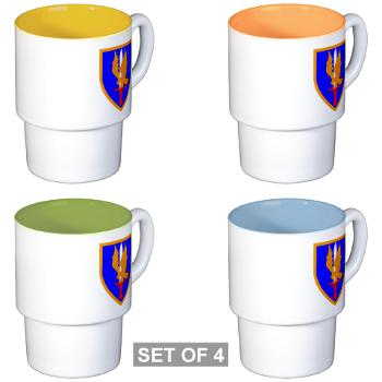 1AB - M01 - 03 - SSI - 1st Aviation Bde - Stackable Mug Set (4 mugs)