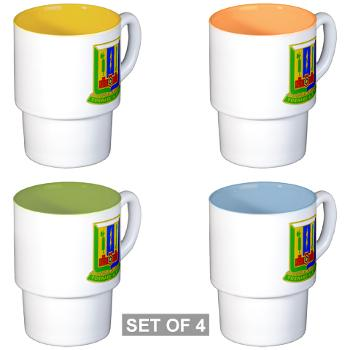 1AD3BCTSTB - M01 - 03 - DUI - 3rd BCT - Special Troops Bn - Stackable Mug Set (4 mugs)