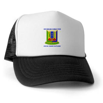 1AD3BCTSTB - A01 - 02 - DUI - 3rd BCT - Special Troops Bn with Text - Trucker Hat