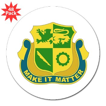 "1ADSTBI - M01 - 01 - DUI - Div - Special Troops Bn 3"" Lapel Sticker (48 pack)"