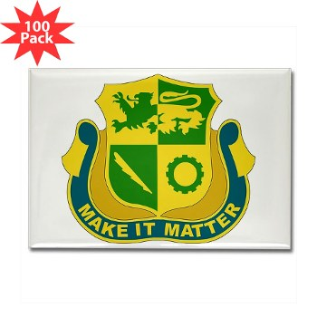 1ADSTBI - M01 - 01 - DUI - Div - Special Troops Bn Rectangle Magnet (100 pack)