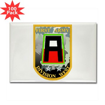 01AW - M01 - 01 - SSI - First Army Division West Rectangle Magnet (100pack)