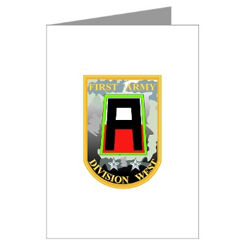 01AW - M01 - 01 - SSI - First Army Division West Greeting Cards (Pk of 20)