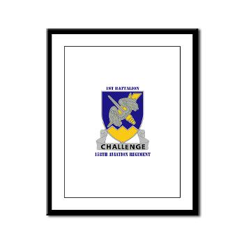 1B158AR - M01 - 02 - DUI - 1st Battalion,158th Aviation Regiment with Text - Framed Panel Print