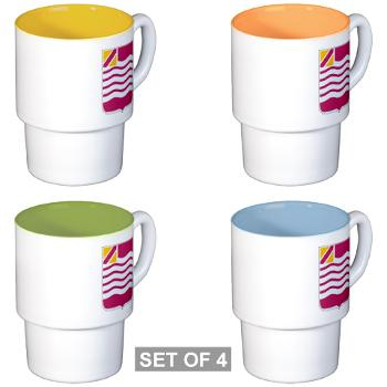 1B15FAR - M01 - 03 - DUI - 1st Bn - 15th FA Regt - Stackable Mug Set (4 mugs)