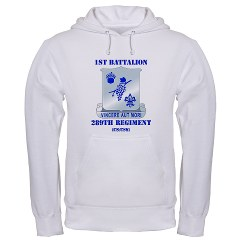 1B289R - A01 - 03 - DUI - 1st Battalion - 289th Regiment (CS/CSS) with Text Hooded Sweatshirt