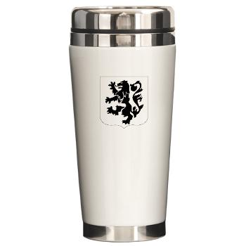 1B28IR - M01 - 03 - DUI - 1st Bn - 28th Infantry Regiment Ceramic Travel Mug