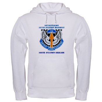 1B291AR - A01 - 03 - DUI - 1st Battalion - 291st Aviation Regiment with Text Hooded Sweatshirt