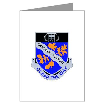 1B307R - M01 - 02 - DUI - 1st Battalion 307th Regiment - Greeting Cards (Pk of 10)