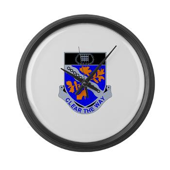 1B307R - M01 - 03 - DUI - 1st Battalion 307th Regiment - Large Wall Clock
