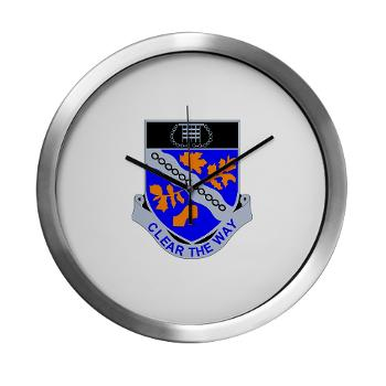 1B307R - M01 - 03 - DUI - 1st Battalion 307th Regiment - Modern Wall Clock