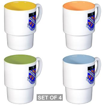 1B307R - M01 - 03 - DUI - 1st Battalion 307th Regiment - Stackable Mug Set (4 mugs)